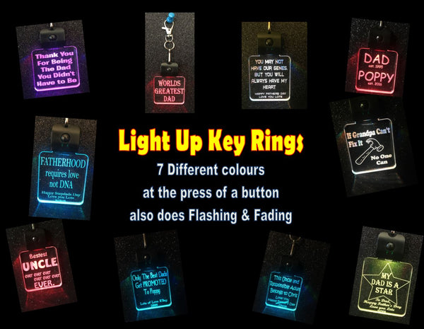 LED  Key RIngs For Males - designaglo