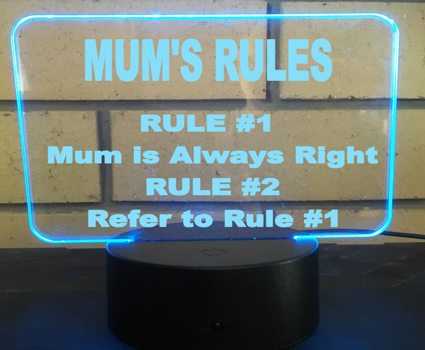 Mum Rules Desk Light - designaglo