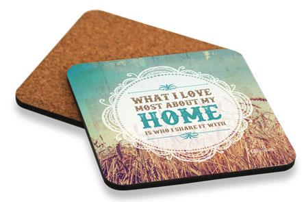 Coaster Cork 10x10 Holy Cow Home - designaglo