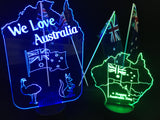 We Love Australia LED Light Sign