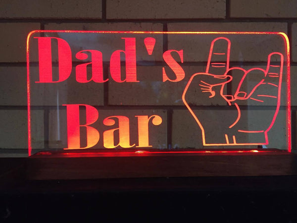 DAD'S BAR LED sign - designaglo