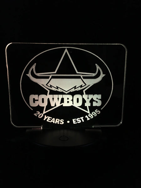 Cowboy LED light Sign