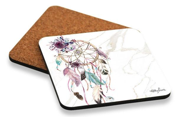 Coaster 10x10 Boho Fairy Catcher - designaglo