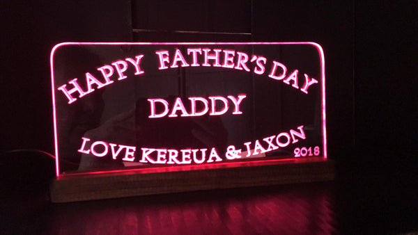 Fathers Day truck LED Light sign - designaglo