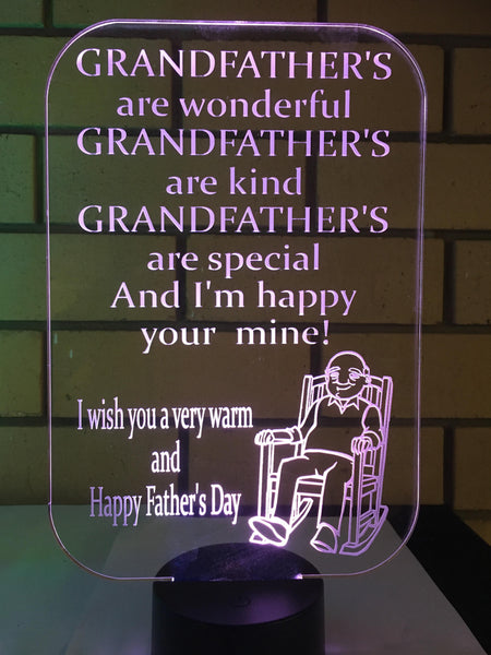 Fathers Day Grandpa LED Light - designaglo