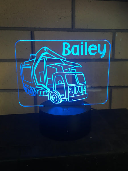 Garbage truck LED desk/night light - designaglo