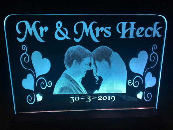 Wedding Portrait LED Light Sign