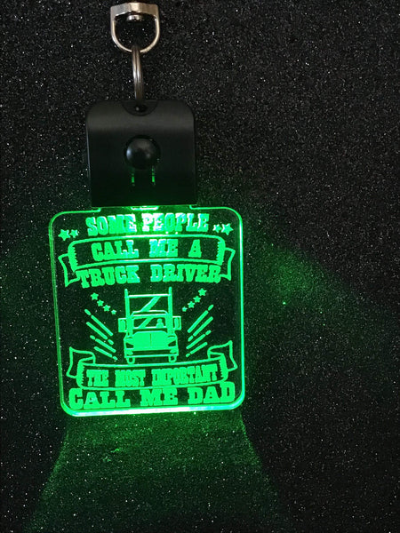 Trucker LED  Key RIngs - designaglo