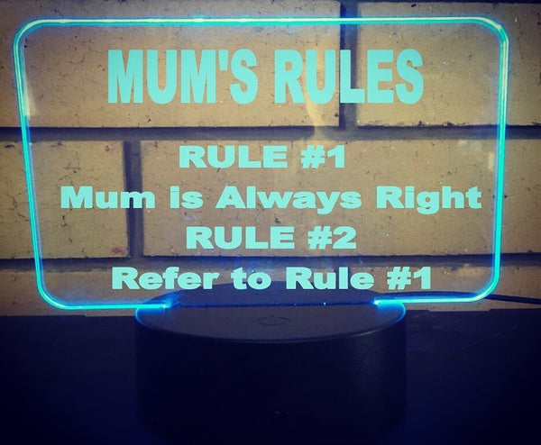 Mums Rules Auction - designaglo