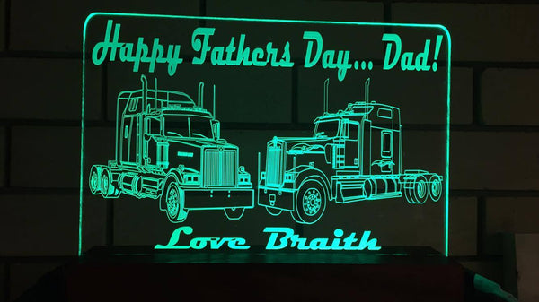 Fathers Day truck LED Light - designaglo