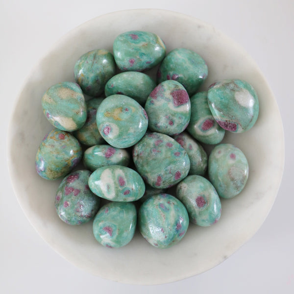 Tumbled Stones - Ruby in Fuchsite