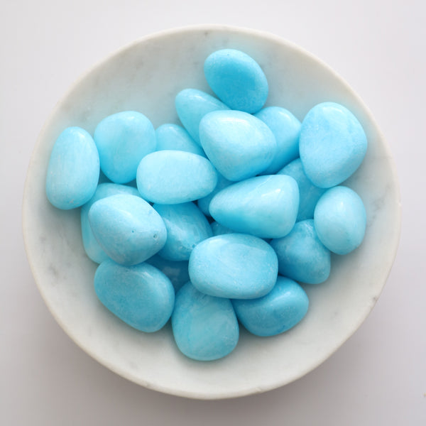 Tumbled Stone - Blue Aragonite