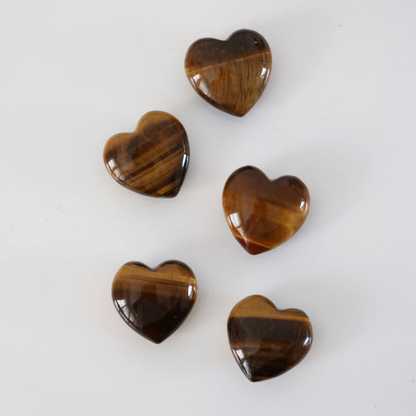 Tiger Eye Hearts - Courage / Confidence / Motivation