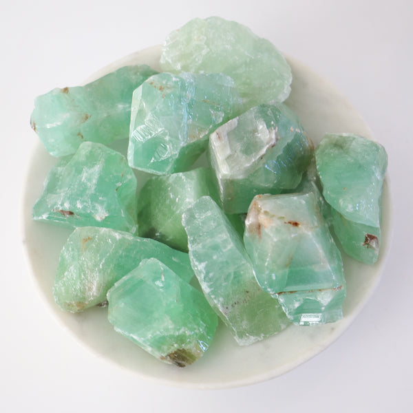 Green Calcite Rough