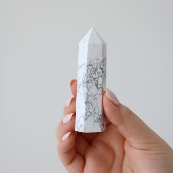 White Howlite Points