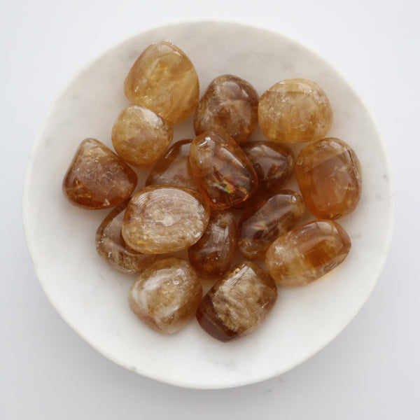 Tumbled Stone - Honey Calcite