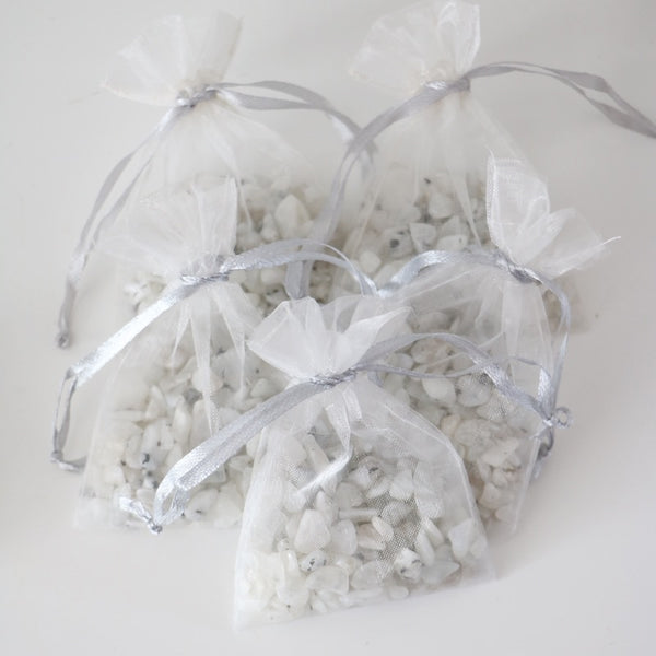 Rainbow Moonstone Chip Bags