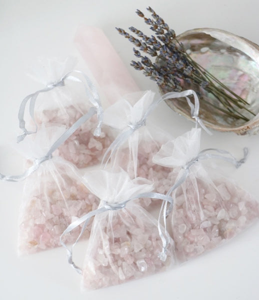 Rose Quartz Chips Bags