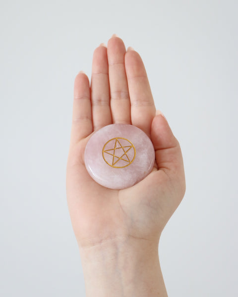 Rose Quartz Pentagram