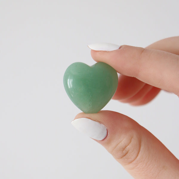 Green Aventurine Hearts - Luck / Confidence / Opportunity