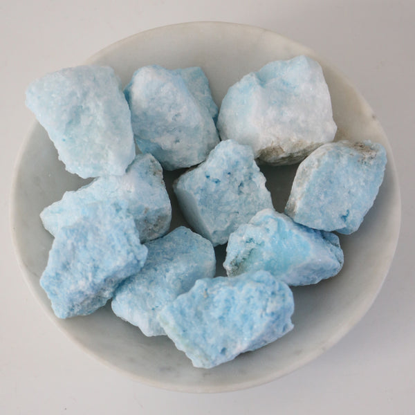 Blue Aragonite - Powder Blue