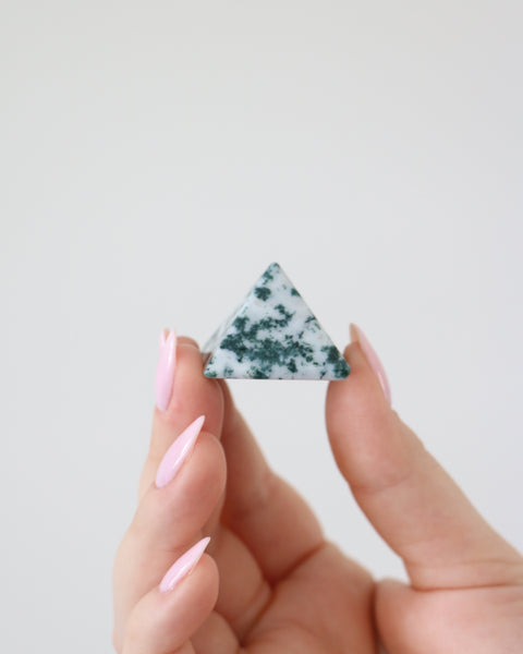 Tree Agate Pyramid