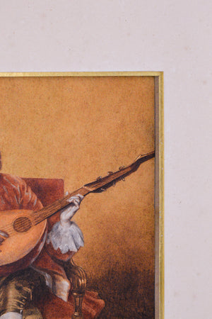 Playing a Lute