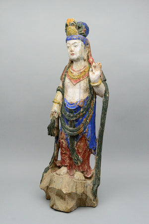 Antique Wooden Guanyin