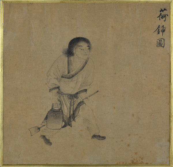 Old Chinese Painting - Walking Boy