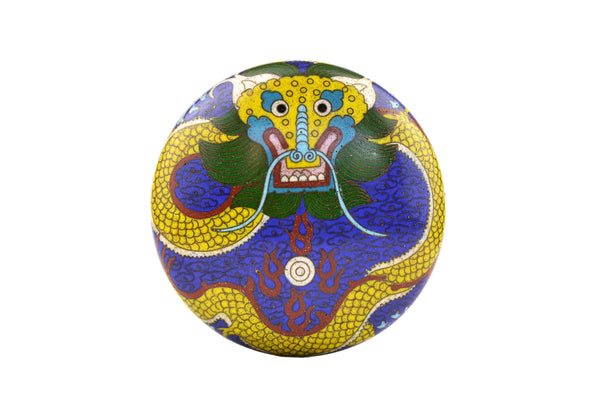 Cloisonne Dragon Box