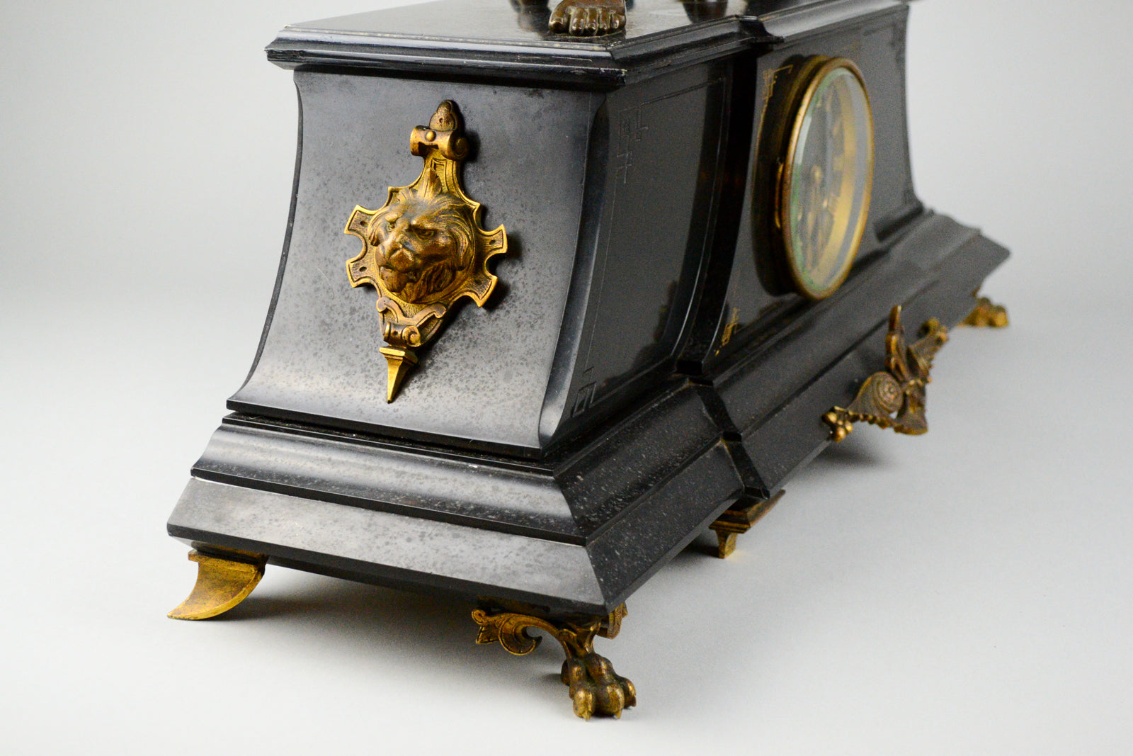 Antique French Clock with Bronze Figure of Virgile