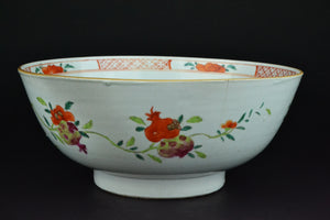 18th Century Rock & Peonies Bowl