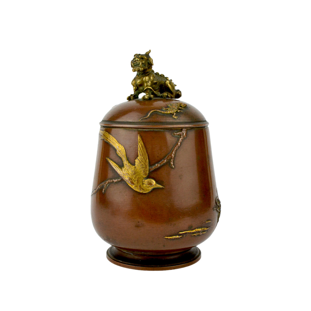 Meiji Bronze Tea Caddy