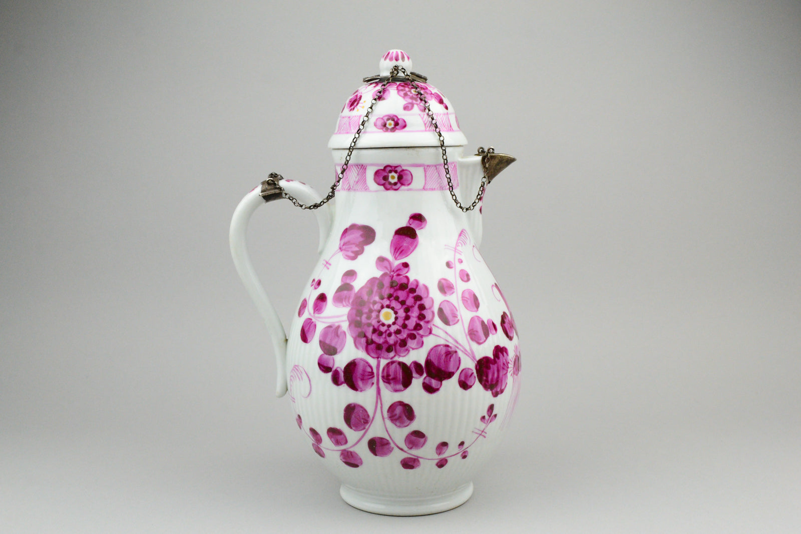 18th Century Royal Tettau Porcelain Tea/Coffee Pot