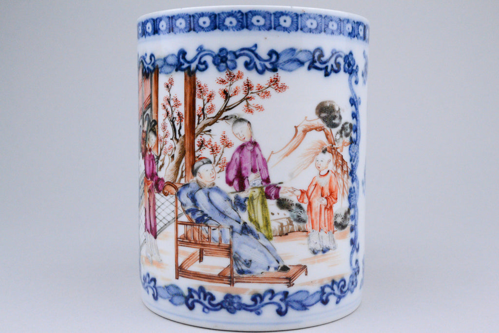 18th C. Export Mandarin Mug