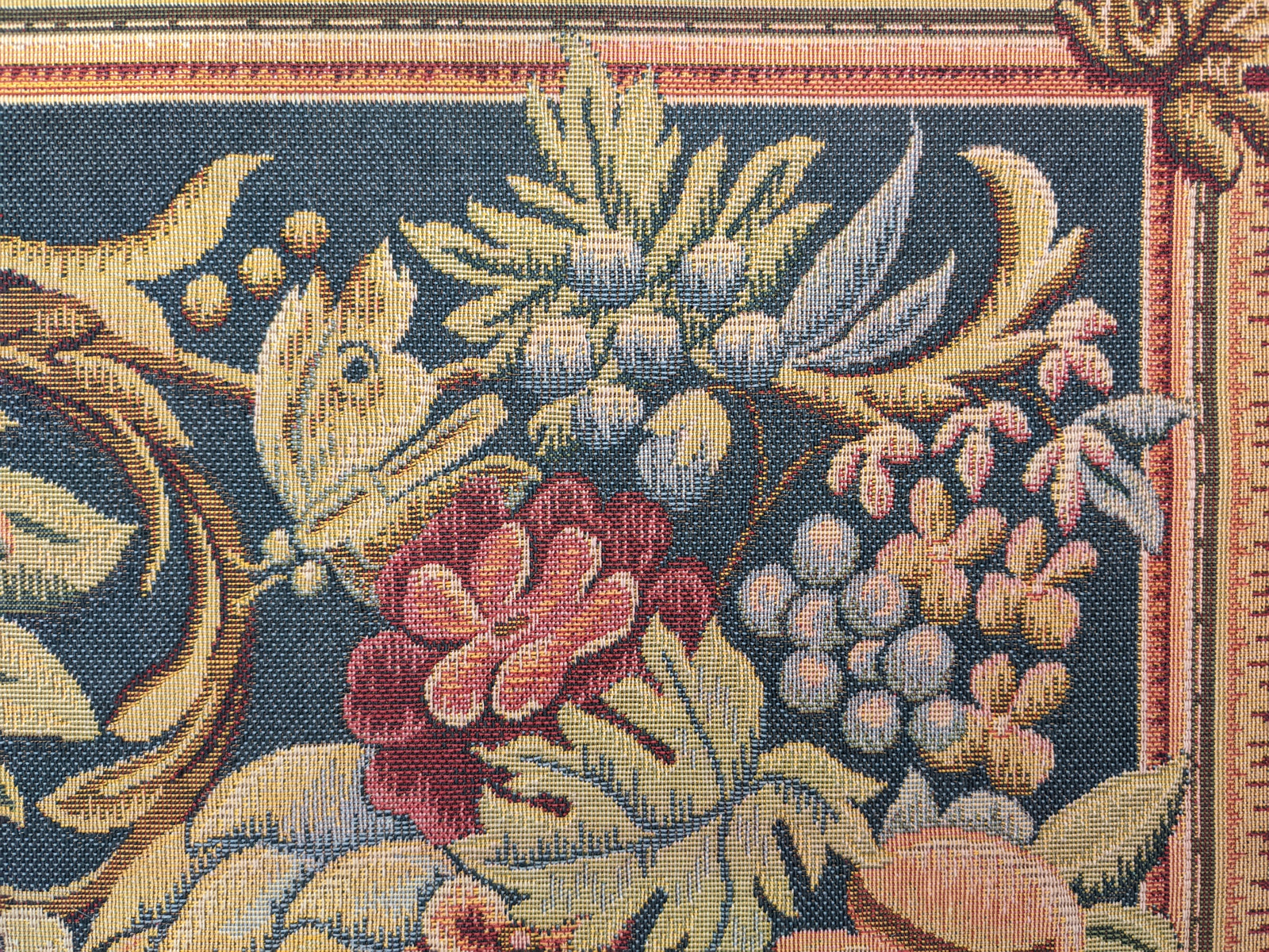 Embroidery - Bird with Fruits & Flowers