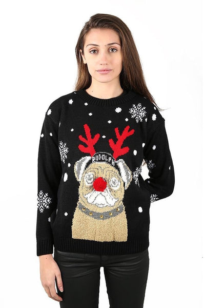 Women Rudolph Knitted Jumper