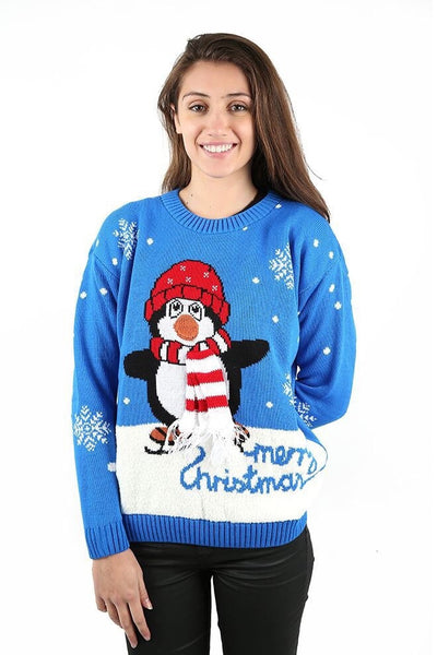 Women Penguin Knitted Jumper