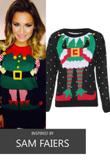 Ladies Elf Body Christmas Knitted Jumper