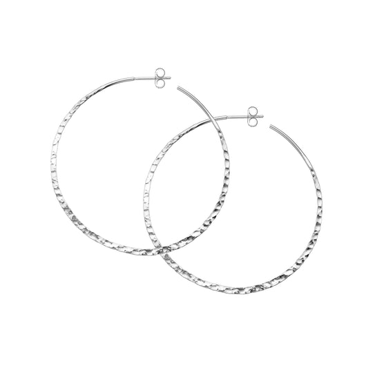 Hammered weightless hoops