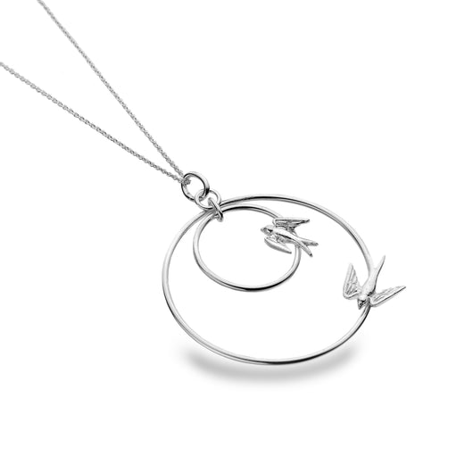 Swooping Swallows Pendant