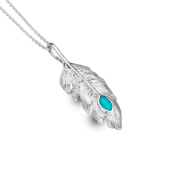 Turquoise Free Spirit Feather Pendant