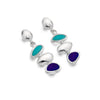 Pebble bay stud earrings