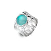 Blue Chalcedony Treasure Ring