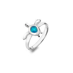 Ocean Blue Turtle Ring