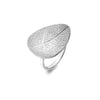 Curved Leaf Ring