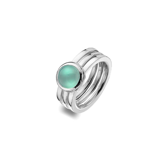 Blue Chalcedony Stacking Rings