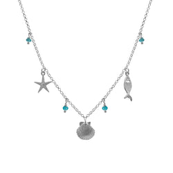 Seashore blue necklace