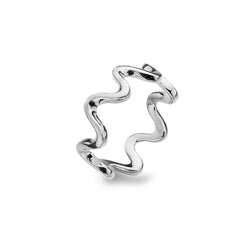 Wave Ripple Ring