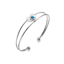 Blue Love Flower Bangle